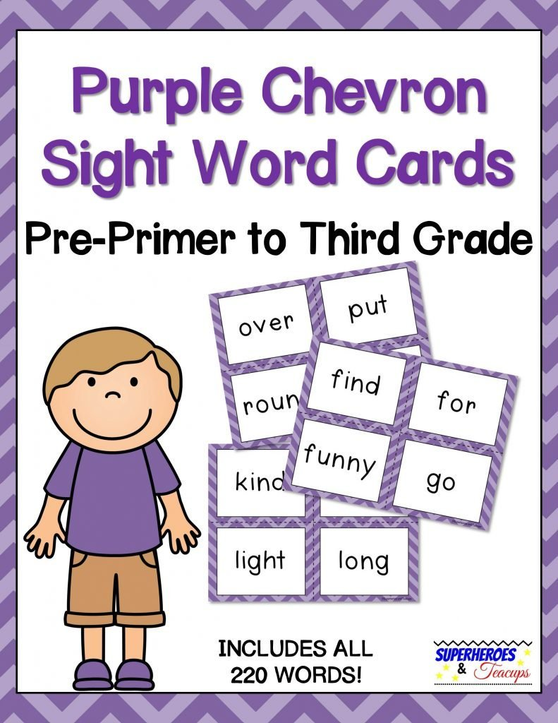 image about Printable Sight Word Cards identified as Red Chevron Sight Term Playing cards for Early Website visitors